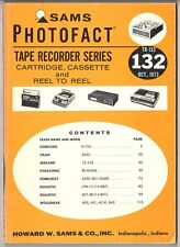 Sams Photofact-Tape Recorder Series/#TR-132/First Edition-First Print/1973