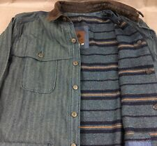 The Territory Ahead Denim Jacket Navajo Lined Barn Coat Mens Extra Large XL