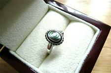 PRETTY BALI 925 STERLING SILVER ABALONE OVAL DECORATIVE RING SZ N 7