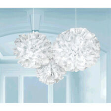 3 Fluffy Frozen Snowflake Christmas Hanging Fluffy Decoration