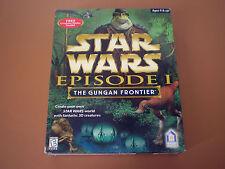 """Star Wars: The Gungan Frontier """"B""""  WIN 95/98 MAC 7.6  NIB NEW  Big Box W/Poster"""