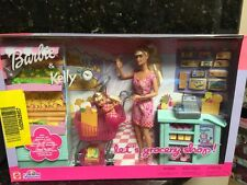 Barbie & Kelly Grocery Supermarket & Lots of Food Mart Mattel New