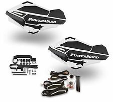 Powermadd Sentinel LED Handguards Guards White Black Mount Ski Doo Snowmobile