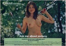 """Original"" - Vintage Bear Archery Nude Model Ad with Bow"