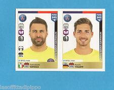 FIFA 365/2016-PANINI ITA-Figurina n.432/433- SIRIGU+TRAPP -PARIS SG-NEW