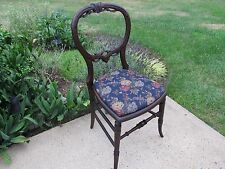 Mahogany Balloon Back Carved Victorian Child's Chair