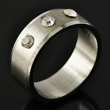 Stylish Men's Unisex White Gold Filled Clear CZ Promise Love Band Ring Size 11