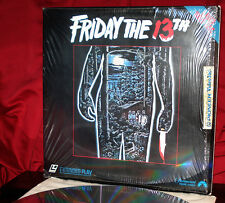 'FRIDAY THE 13TH' Original Teen Slasher on 12-Inch Laser Disc, In Opened Shrink