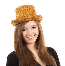 Adulto Vestido De Malla Oro Disco Clubwear Top Hat Celebrity Unisex Accesorio