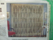 """Jaquard Lace Tailored Panel Vintage USA For Kmart Eggshell 40X81"""" Fantasia 888"""