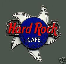 Hard Rock Cafe ORLANDO 2000 5 Spinning SHARK Fins PIN Red/Blue HRC Logo SPINNER!