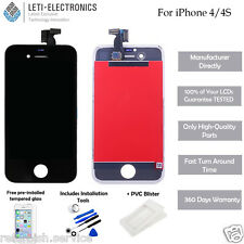 Replacement LCD Display Touch Screen Digitizer Assembly for iPhone 4 4G AAA No Dead Pixels OEM Brand NEW Black or White Free DHL