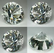 Crystal White Diamond Lab created; Shape:Round; Size:40mm; Weight 180 Carats;
