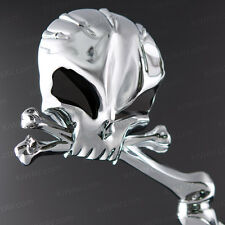 Skull aluminum chrome mirrors w/ black eyes for Harley-Davidson bike motorcycle
