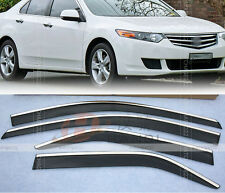 FIT FOR 09- HONDA ACCORD EURO TSX WINDOW VISOR WEATHER SHIELD WEATHERSHIELD