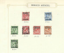 MOROCCO AGENCIES STAMPS MOUNTED ON PAGE USED HINGED