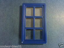 PLAYMOBIL Western - Fenêtre vitrée bleue+ chassis  pour maison ancienne/nouvelle