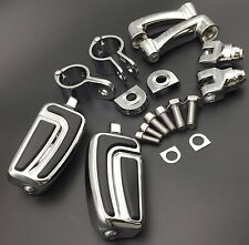 1 inch Chrome AirFlow FootPeg For Harley Davidson Sportster 883 1200 Street Bob