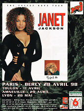 PUBLICITE ADVERTISING 124  1998  NRJ  radio JANET JACKSON  concert à PARIS-BERCY