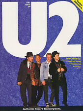 The Best Of U2 Bass Guitar TAB Learn to Play Rock Bono Music Book