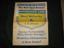 1973 New York Review Norman Mailer, Monroe & DiMaggio, McCarthy, Berryman, ETC
