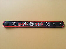 SILICONE RUBBER ROCK MUSIC FESTIVAL WRISTBAND/BRACELET:- BLINK 182 (c) BLACK