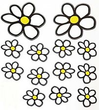 White Daisy Flowers -  Sticker Decal