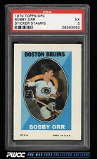 1970 Topps & OPC Sticker Stamps Bobby Orr PSA 5 EX (PWCC)