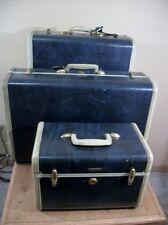 Vintage Samsonite Blue Marble Wardrobe Suitcases