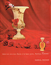 PUBLICITE ADVERTISING 124 1960  MARCEL ROCHAS  parfum ligne pure MADAME