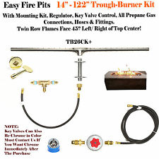 "TB50CK+: 50"" TROUGH BURNER COMPLETE DELUXE FIRE TABLE/ WALL KIT (90 DEG FLAMES)"