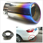 Slant Burnt Blue Titanium Car Modification Metal Burnt Exhaust Muffler Tail Pipe