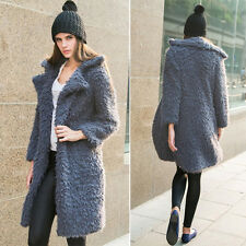 Vintage Women Winter Parka Faux Fur Long Sleeve Jacket Coat Outwear Overcoat Top