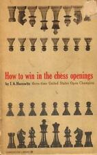How to win in the chess opening by I.A. Horovitz - PB, 1961