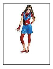 Girls M 7 8 Spider Girl Daughter of Spider Man Costume Dress Leggings, more New