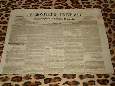 LE MONITEUR UNIVERSEL, journal officiel de l'empire français, n° 212, 31/07/1858