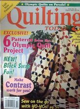 Quilting Today Patchwork Magazine 1996 inc Amish Traditional Quilt