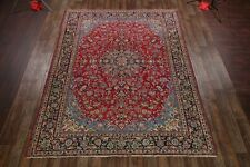 """Traditional Floral Red 9x12 Isfahan Persian Oriental Area Rug 12' 5"""" x 9' 4"""""""