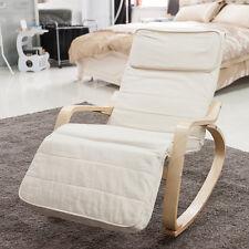 Relaxstuhl Schwingsessel Schwingstuhl Schaukelstuhl Stuhl Stühle Beige Geschenk