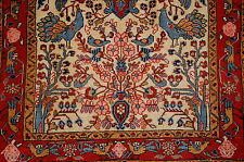 c1930s ANTIQUE BIRD SUBJ. PERSIAN SAROUK FERAHAN RUG 2.4x3.2 HIGH KPSI_KORK WOOL