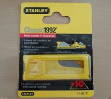 STANLEY 10 Blades 11-921T Utility Blades With Dispenser, PK 10, Stanley Tools