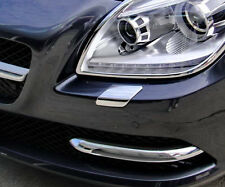 MERCEDES BENZ R172 SLK 200 230 250 350 55 AMG CHROME HEAD LIGHT LAMP WASH TRIMS