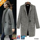 Womens Lapel Wool Cashmere Coat Trench Jacket Long Parka Overcoat Outwear WS010