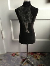Vintage Mannequin  Custom made  Velvet & Stainless Steel Marked Tailor New York