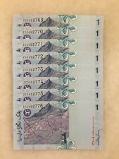(JC) 8 pcs RM1 11th Series Signed Zeti Replacement Note ZC 3052769 to 776 - UNC