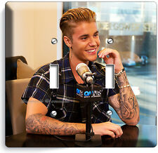 JUSTIN BIEBER SEXY RADIO INTERVIEW ON AIR DOUBLE LIGHT SWITCH WALL PLATE COVER