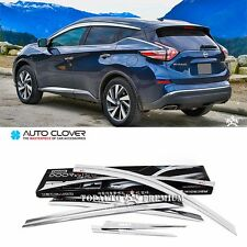 Chrome Window Visor Sun Guard Wind Rain Shield For Nissan Murano 2015~2016+