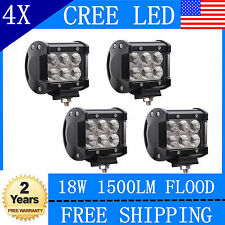 4x 4''inch 18W CREE LED Work Light Bar Pods Lamp SUV 4WD 4X4 UTE Boat Truck Jeep