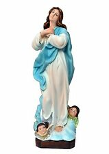 Virgin Mary assumption by Murillo resin statue cm. 30