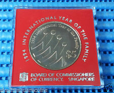 1994 Singapore International Year of Family $5 Cupro-Nickel Commemorative Coin
